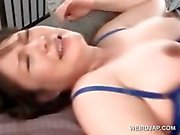 Pregnant asian babe getting a hot creampie