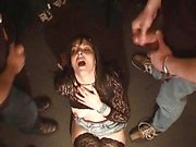 Naughty amateur wife bizarre bukkake fetish