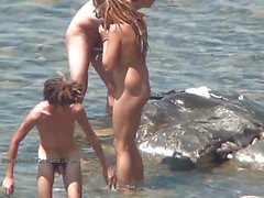 Spy videos of hot young nudists on the beach