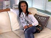 Bulgarian porn star Silvia at NL casting