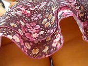 Upskirt Teen Black Thong Panties