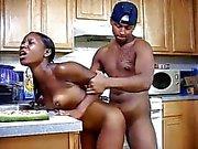 Ebony Teen Fucked In Kitchen