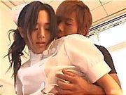 Asian nurse shows off cute part3