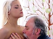 Young snatch filled by old cock