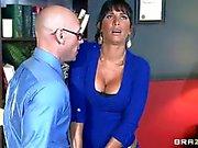 Busty MILF Lezley Zen takes sex therapist s boner