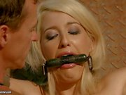 Hot babe Bijou gets tied up and tortured