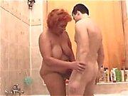 BBW Granny Fuck in the Tub