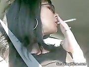 Mina looks hot while smoking