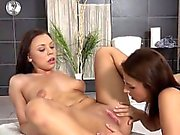 Ideal sweetie is geeting pissed on and blasts wet pussy