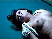celebrity nude sex scene Candice Lewald - violent scene in Gutterballs