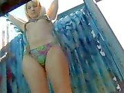 Hidden beach cam shows girls changing