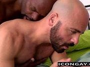 Cutler X stuffs Adam Russo bareback with his big black cock