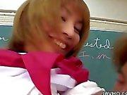 Schoolgirl hottie Miku Horikoshi is fondled