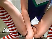 Another Japanese teen CD cosplay masturbates
