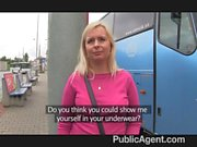 PublicAgent - Busty blonde pink thong fucked