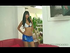 Karla Spice Blue Shiny Mini Skirt