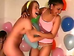 Cute bisexual amateurs play sexy game of dare