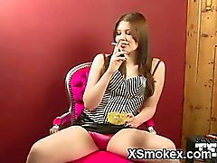 Dominant Chick Smoking Softly Penetrated