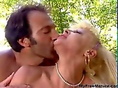 Beautiful Granny Italian Blonde Fucked mature mature porn granny old cumshots cumshot