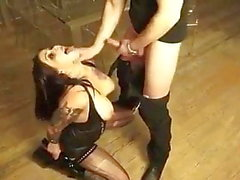 Amazing hot Bitch pissing dildos fisting spit