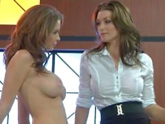 Whores Emily Addison & Heather Vandeven Mess Around