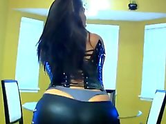 Westernised Big Butt Arabian Domme in Black Leather