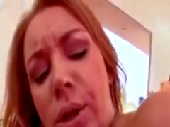 A cougar tasting Her creampie