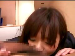 Amateur Japanese Office Girl Sucks Cock