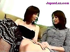 Mature Lady In Black Dress Getting Her Tits And Pussy Rubbed Nipples Licked On The Couch