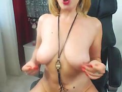 Madison Scott blonde big boobs babe buffing the knob