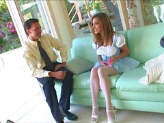 jenna haze - snooping babysitter plays with moms sex toy & fucks dad