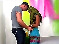Indian Desi MILF Fucks and Sucks Big White Dick