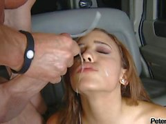Hot chick Melanie Jane likes the awesome shot she gets after a horny fuck