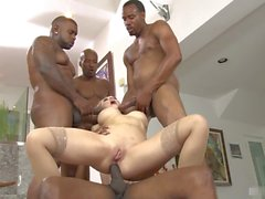 Four cocks and one Kagney Linn Karter sure makes for a hole stuffing