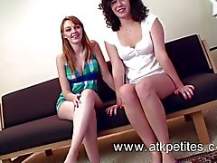 Marie McCray and hairy Sativa Verte steamy lesbian sex