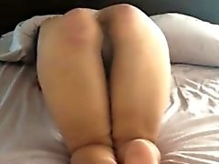 Caning her ass before pounding her pussy