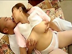 Myuu Hasegawa hot girl pretty Chinese doll gets pussy licked