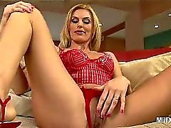 Darryl Hanah's one wild and nasty blonde MILF that loves