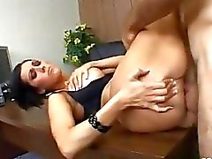 Juicy milf Dylan Ryder receives a warm glob of man jam on face