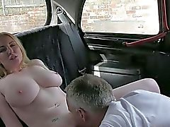 Honey flashes her big boobs and drilled