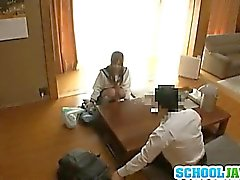 Voyeur Cam Captures Chika Eiro Having Sex In Her Schoolgirl