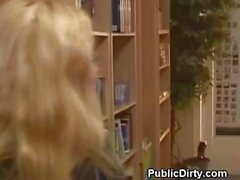 Blonde Flashes Pussy And Tits In A Public Office Building