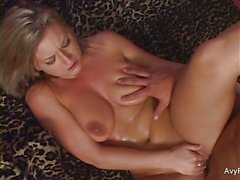 Gorgeous Avy Scott gets her pussy drilled