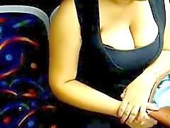 Indian 36DD Boobs Exposed In Public Bus