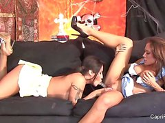 Jenaveve Jolie and Capri Cavanni enjoy lesbian fun