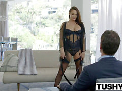 TUSHY giant Tit Babe Alektra Blue Assfucked by fat trouser snake