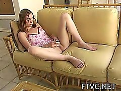 Cutie plays with vibrator