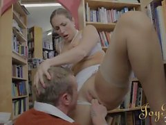 Great sex in a bookstore with Paige Turnah