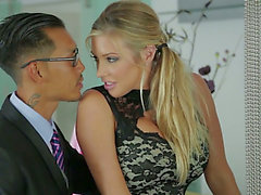 Samantha Saint and her Oriental ally go wild in FFM 3some