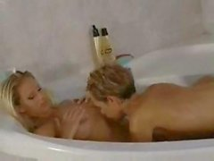 Adele Stephens and Natasha get to some lezzie action in the tub